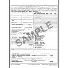 household goods form statement of accessorial services for non