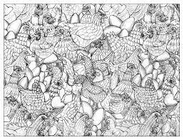 chicken 2 animals coloring pages for adults justcolor