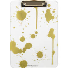 cynthia rowley clipboard patterned ltr quill com office