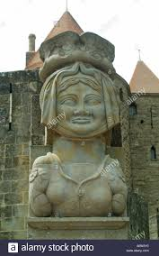 Carcassonne Carcassonne Part Of The Fortified Medieval Town Large Sculpture Of