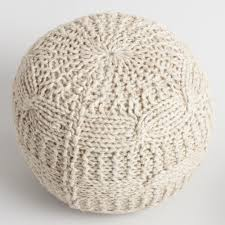 taupe heather sweater pouf world market