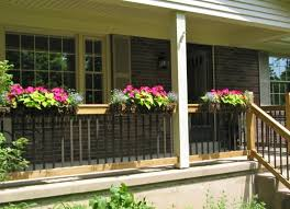 niesz vintage home and fabric porch railing flower boxes