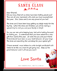 letters from santa claus official letters from santa