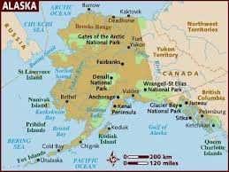 map usa lonely planet map of alaska