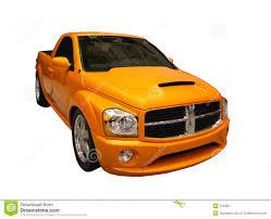 Dodge Ram Yellow - sporty yellow dodge ram pickup isolated over white stock photo