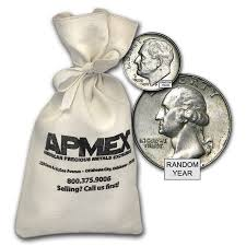 bags of 90 silver coins 100 value bag junk silver for