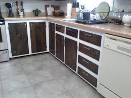 painted kitchen cabinets with stained doors lilly s home designs kitchen cabinet makeover reveal