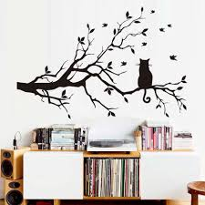 Modern Wall Stickers For Living Room Compare Prices On Silhouette Tree Online Shopping Buy Low Price