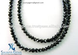 bead diamond necklace images Natural black diamond beads strands for women men jewelry at jpg