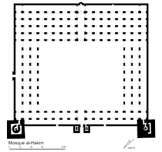jami u0027 al hakim floor plan of mosque archnet