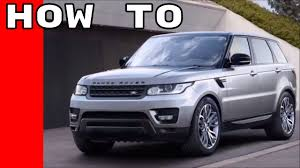 2017 range rover and rr sport features options owners manual
