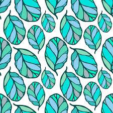 Muster Blau Grün Nahtloses Muster Mit Gezeichnetem Blau Und Gr禺n Verl磴sst Auf