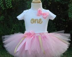 1st birthday tutu pink and gold 1st birthday girl outfitone year girl