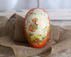 large paper mache egg https www etsy search vintage home and living q easter