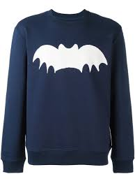 zoe karssen bat print sweatshirt 0197 peacoat men clothing