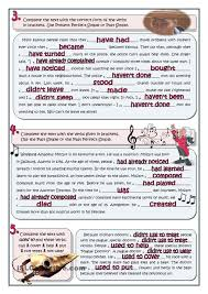 past tenses review english language worksheets pinterest