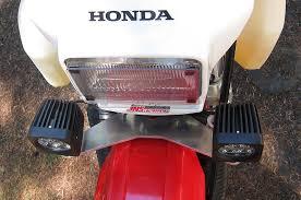 honda xr650l auxiliary led light mount