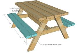 Free Plans For Picnic Table Bench Combo by Ana White Build A Bigger Kid U0027s Picnic Table Diy Projects