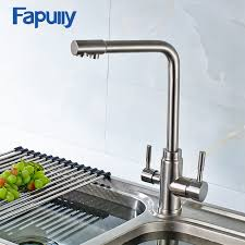 kitchen faucet water purifier fapully 3 way kitchen faucet water tap with water