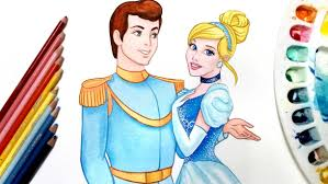 prince charming princess love with prince sketch cinderella and prince charming