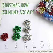 pre bows christmas bow counting activity pre k pages