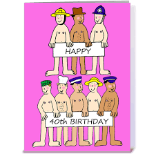 happy 40th birthday men greeting card by kate taylor card