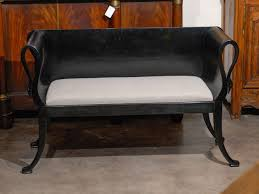 upholstered bench with back and arms bench decoration
