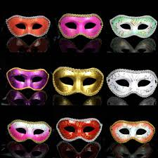 men fashion painted edge masquerade masks halloween party colored