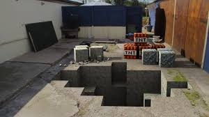 wallpaper video games minecraft cottage backyard floor