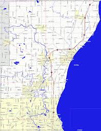 Wisconsin County Maps by Bridgehunter Com Ozaukee County Wisconsin