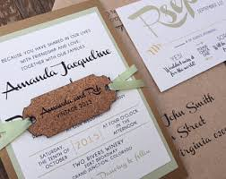 wedding invitations cork fall wedding invitat etsy