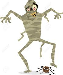 mummy cartoon perfect for halloween royalty free cliparts vectors