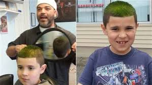 barber helps boy with autism learn to love haircut today com