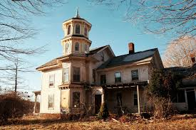 house with tower abandoned connecticut house with yellow tower 1908x1272 oc