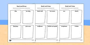 summer read and draw worksheet seasons weather activities