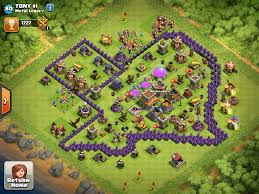 big clash of clans base base everything s bigger in this guy s village clashofclans