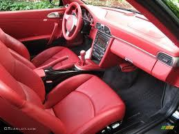 black porsche red interior carrera red interior 2009 porsche 911 carrera 4s cabriolet photo