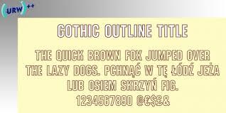 Meme Text Font Generator - outline fonts outline font generator