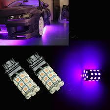 led light bulbs for cars 2x purple 3157 30 smd 5050 led car brake stop light bulbs drl l