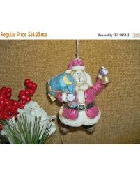 bargains on white rabbit santa claus ceramic bell