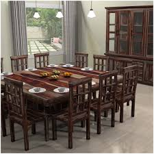 ranch large square dining table chair set for 12 people