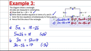 gcse maths revision solving simultaneous equations in context 2