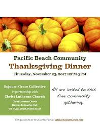 pacific community thanksgiving dinner thursday november
