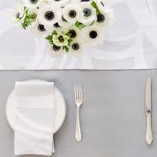 Extra Wide Table Runners Silver Grey Round Linen Tablecloth Solid Color Custom Size