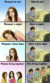 Men And Women Memes - men vs women in a nutshell http ibeebz com the funniest board