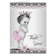 baby shower thank you cards vintage pink princess baby shower thank you cards zazzle