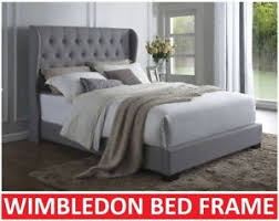Grey Bed Frame Wimbledon King Single King Size Grey Bed Frame Ebay