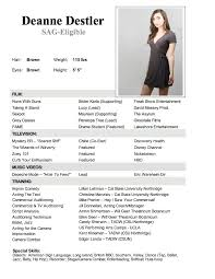 theatrical resume template 1000 ideas about acting resume template on sle actors
