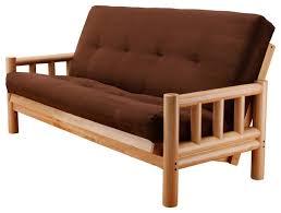 sofa trendy lodge futon frame mattress living room furniture