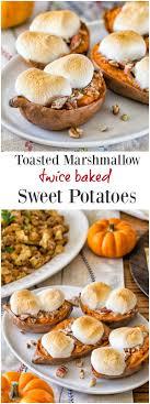 toasted marshmallow baked sweet potatoes sweet